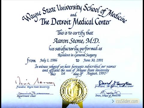 General Surgery Residency Certificate